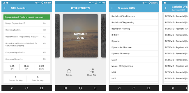 GTU Results Mobile App